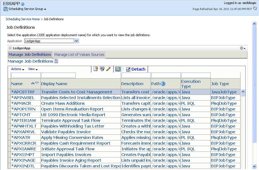 Managing Oracle Enterprise Scheduler Service and Jobs 11g – Scheduler Job Description