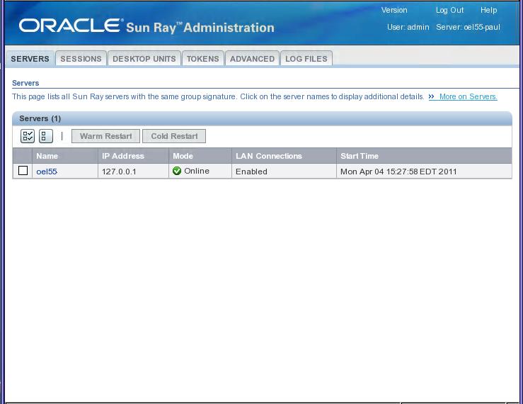 4 2  Administration Tool (Admin GUI)