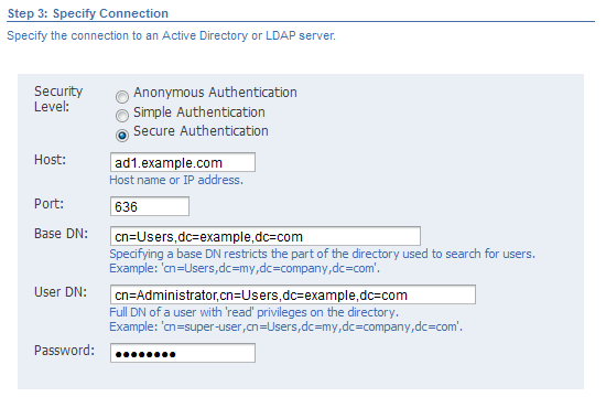 41 creating a company the image shows the specify connection step the secure authentication option is selected and thecheapjerseys Choice Image