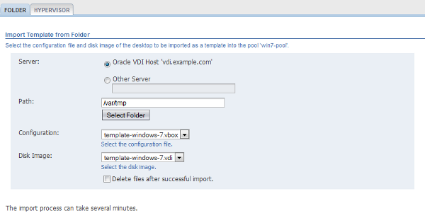 7 2 Importing A Template Into A Pool
