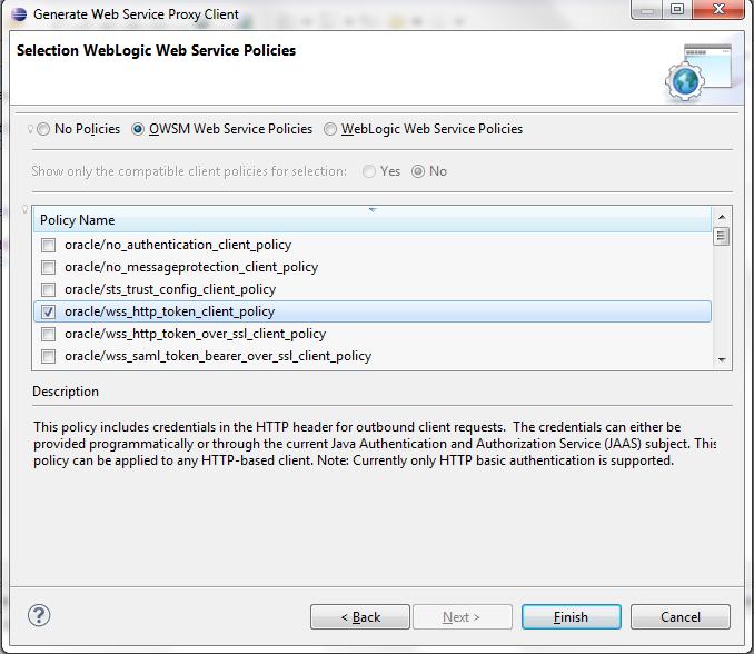 Web Services Development: Generating Client Code