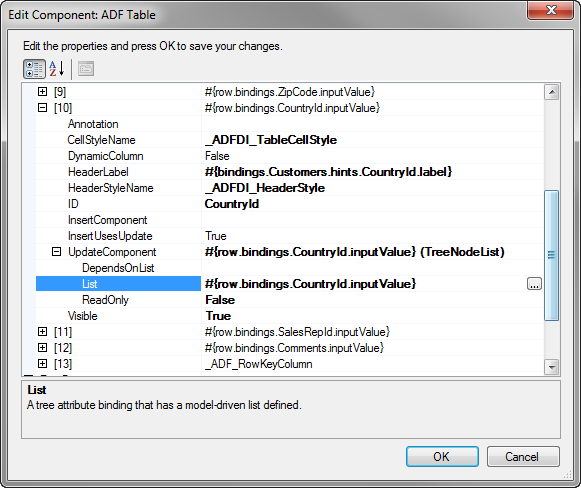 Working With ADF Desktop Integration Table-Type Components