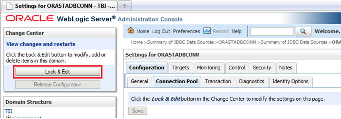 command change password oracle