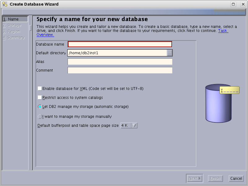 Creating and Configuring an IBM DB2 Database