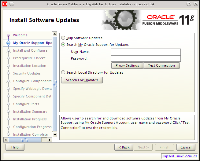 Installing Oracle HTTP Server 11g
