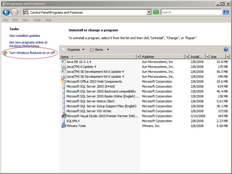 install iis 7.0