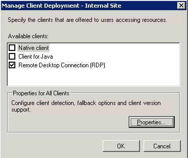 3 4  Enabling RDP in the Citrix Web Interface Site