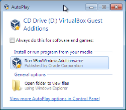 6 4  Installing the VirtualBox Guest Additions