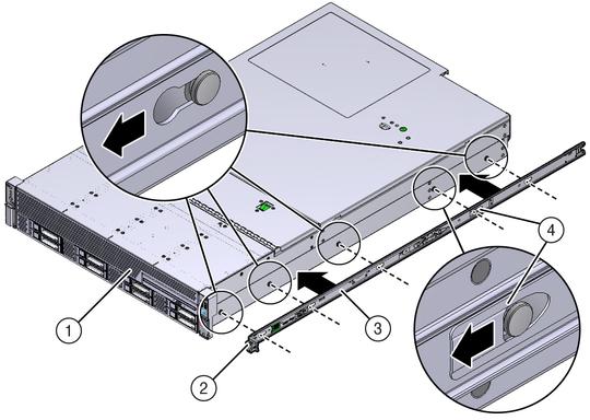 Install Mounting Brackets - Sun Server X4-2L HTML