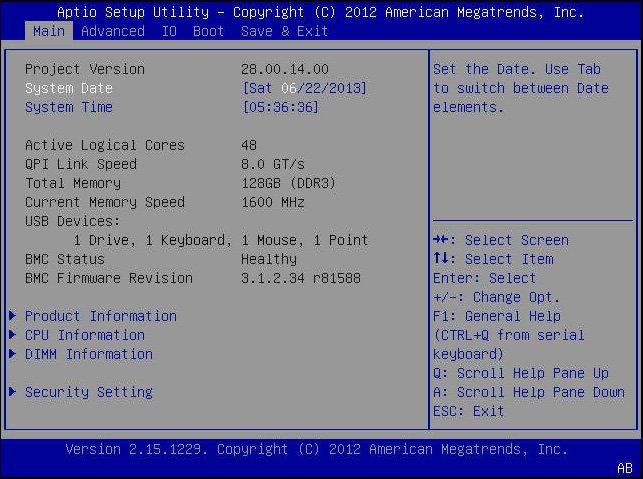 bios main menu selections sun blade x4 2b service manual rh docs oracle com hp bios manual manually update bios