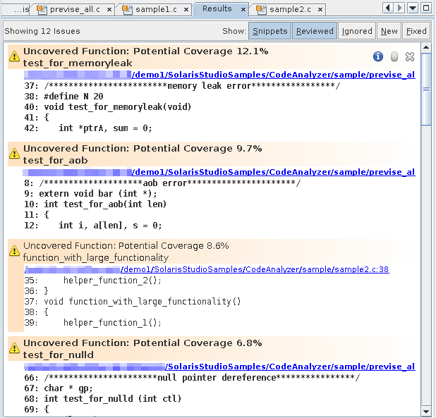 Collecting and Displaying Code Coverage Data - Oracle