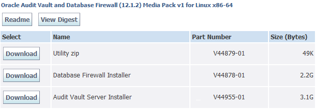 Installing Oracle Audit Vault and Database Firewall Software