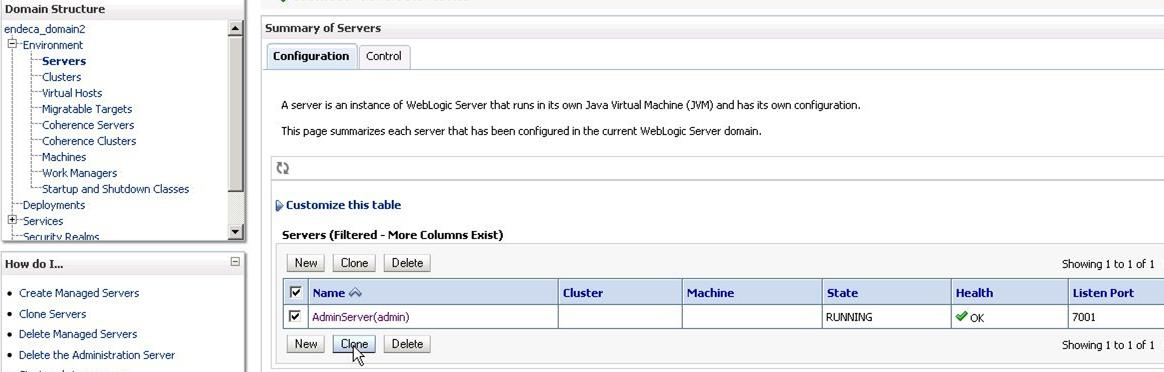 Step 2: Creating Admin Server, generating SSL certificates, and