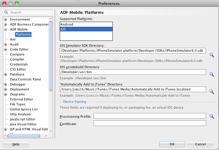 Deploying ADF Mobile Applications