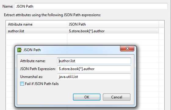 Retrieve Attributes with JSON Path