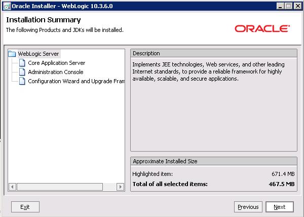 Downloading and installing weblogic server.