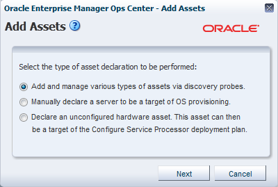 Oracle Enterprise Manager Ops Center Discovering And Managing A