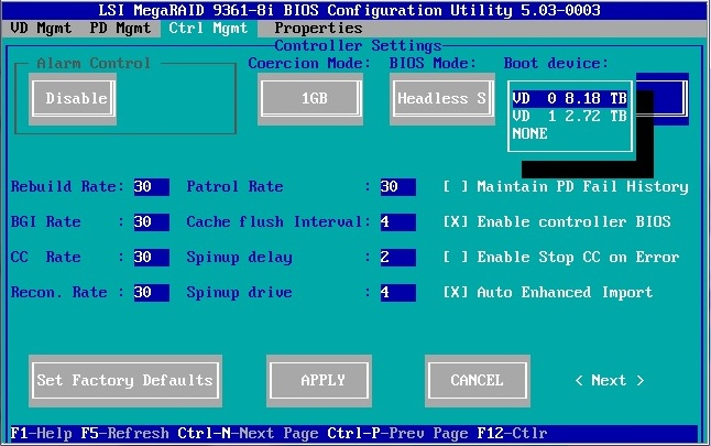 Make a RAID Volume Bootable Using the LSI MegaRAID