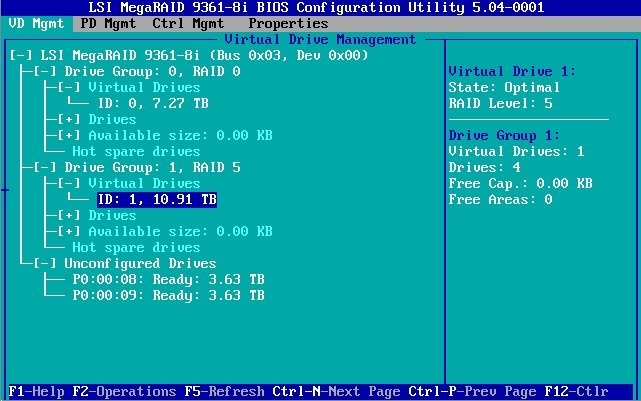 Configure the HBA Cache Settings in Legacy BIOS Boot Mode