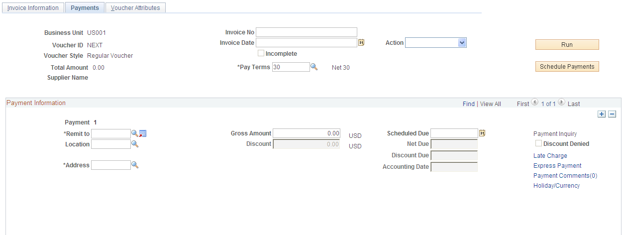 Scheduling and Creating Voucher Payments for Online Vouchers
