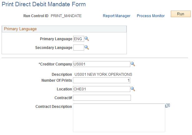 print direct debit mandate form page - Direct Debit Form