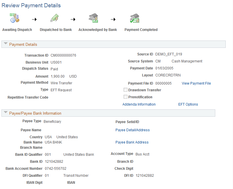 Reviewing and Changing Payments in Financial Gateway