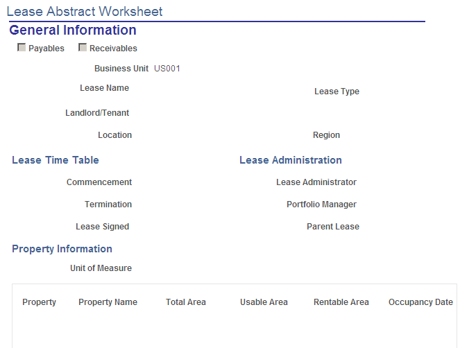 Creating and Printing Lease Abstract Worksheets