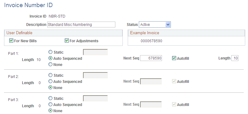 assigning invoice number ids