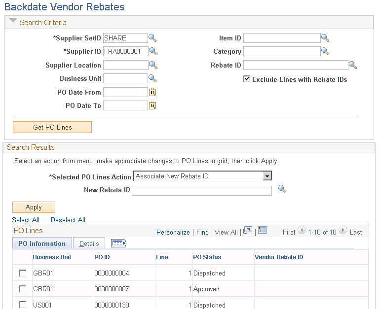 Associating To Dissociating From And Modifying Associated Vendor