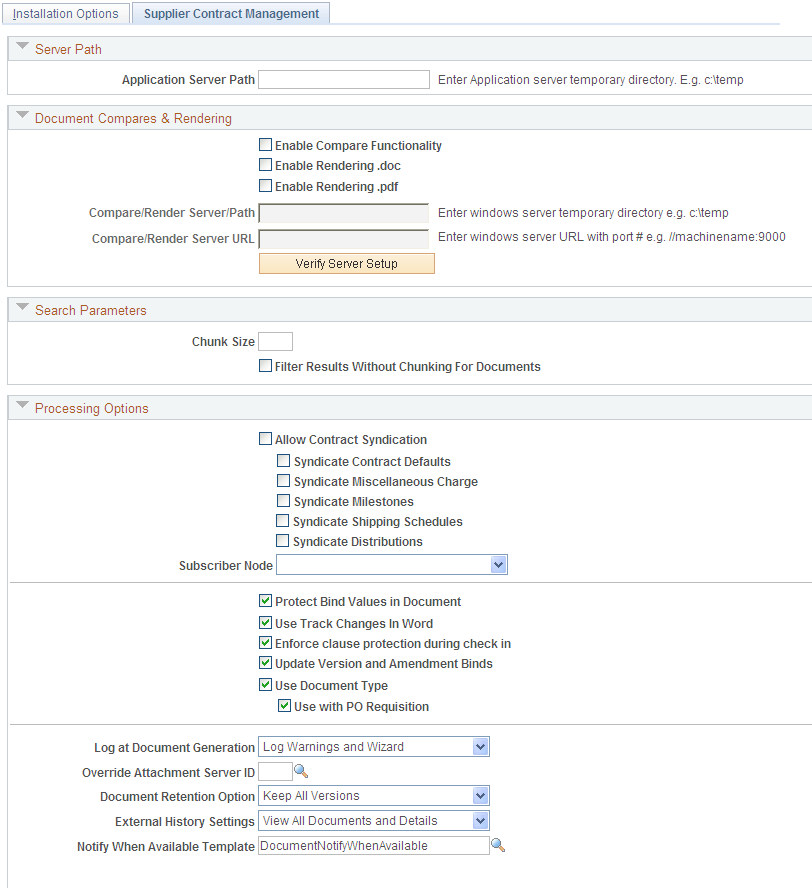 installation options supplier contract management page 1 of 3