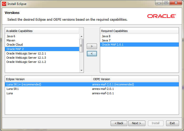 Oracle Enterprise Pack for Eclipse Installation Guide