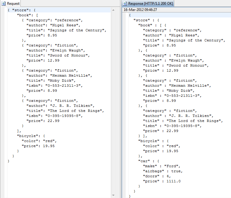 Retrieve attributes from json message.