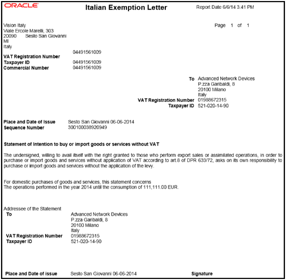 Using analytics and reports exemption letter report for italy spiritdancerdesigns Gallery