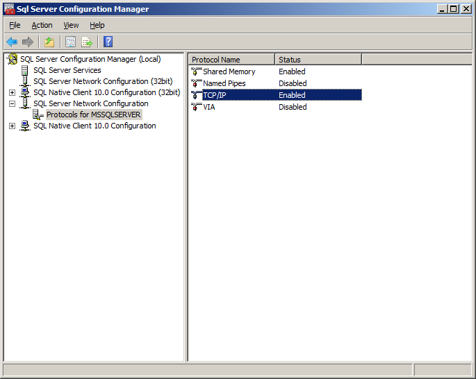 Using the Administrative Console to Configure the Reporting