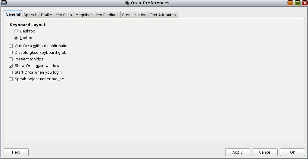 Orca Configuration GUI - Oracle® Solaris 11 Desktop
