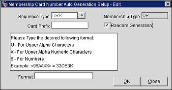 Membership Card Number Auto Generation Setup