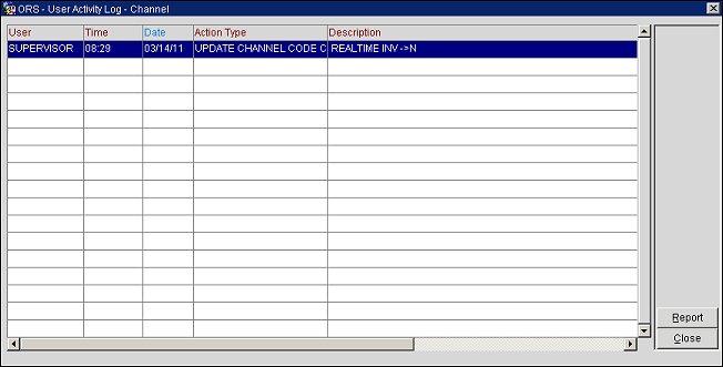 User Activity Log