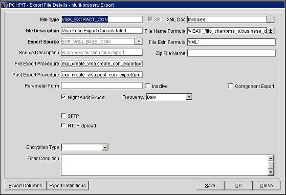 Visa_extract_export_con_file_details_screen