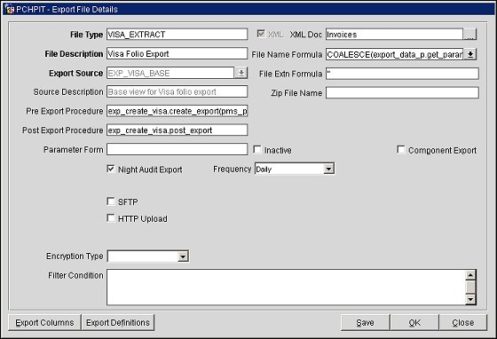 Perfect Visa_extract_export_file_details_screen