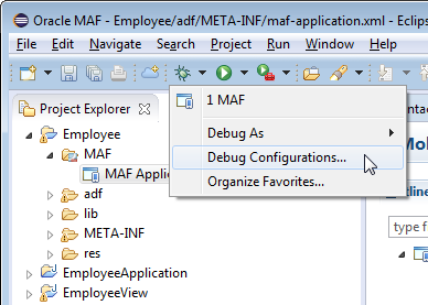 OEPE Tutorials - Building MAF Applications with OEPE