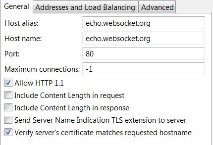 Configure WebSocket connections