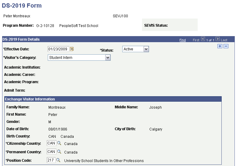 Creating and Updating Exchange Visitor Data for DS-2019 Forms for ...