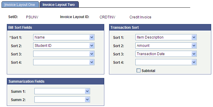 invoice layouts