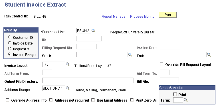 Printing Invoices - How to use invoice