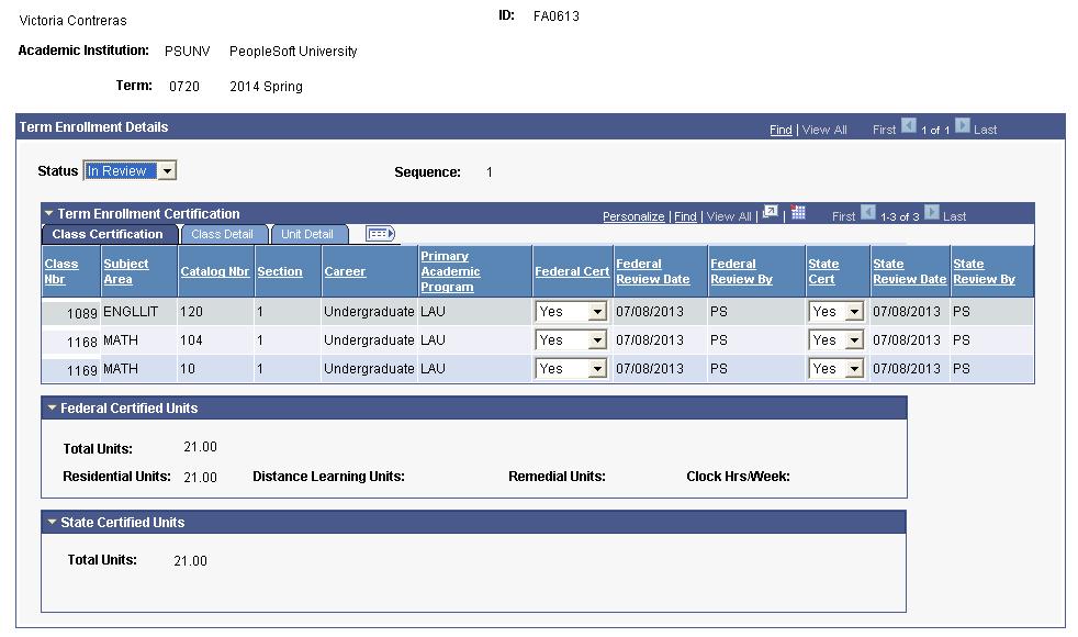 Certifying Student Enrollment