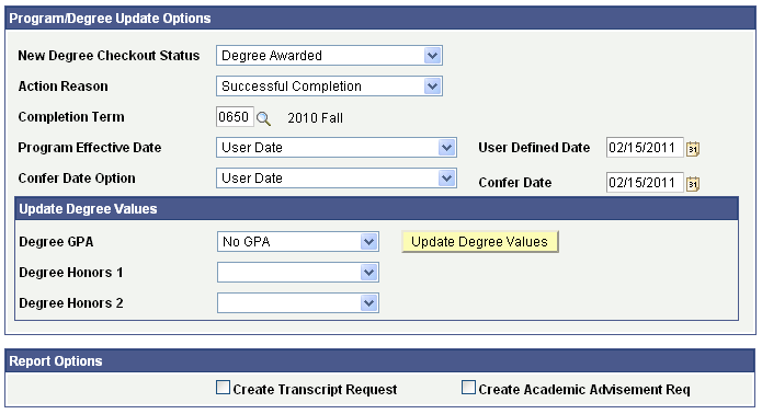 Tracking Graduation Progress
