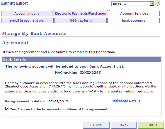 Using Account Services
