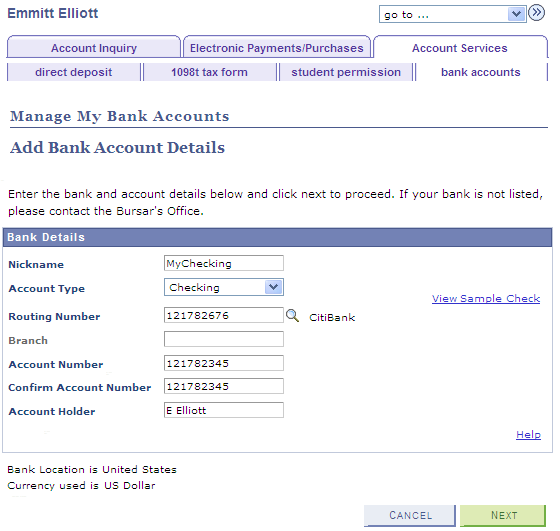how to add your bank account to ebay