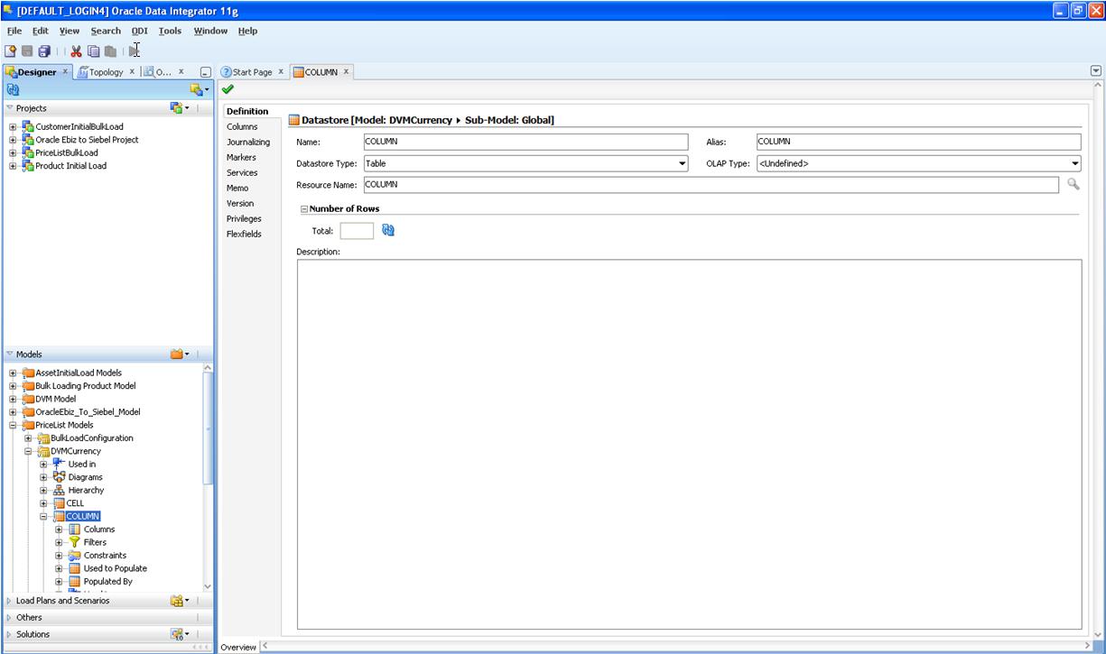 running initial data loads