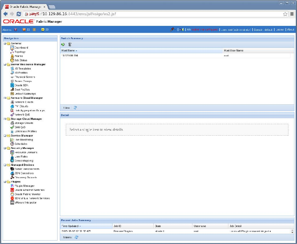 Add a Switch to the ES2 OFM Plugin - Oracle® Ethernet Switch ML2 ...